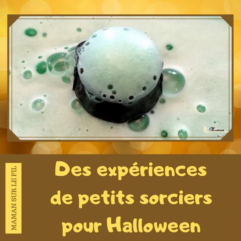 Expériences pour sorciers - Halloween - Laboratoire atelier de potions - chaudron - activité enfants - chimie