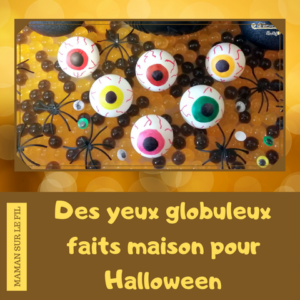 Yeux globuleux de cyclope faits maison pour Halloween avec des balles de ping-pong - Activité enfant - Bricolage - DIY