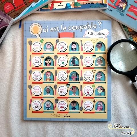 Livre Enfants - Collection Qui est le coupable - Milan - Livre Jeu Enquête - Zoo - Ecole - Manoir Hanté - Pirates - Déduction et Logique - mslf
