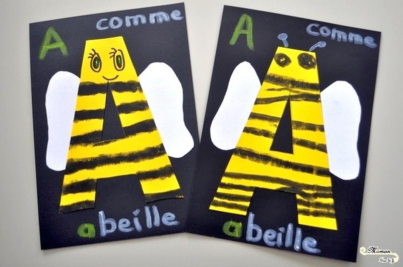 activite-enfant-abecedaire-creatif-a-comme-abeille-araignee-dessin-graphisme-peinture-sticks-mslf
