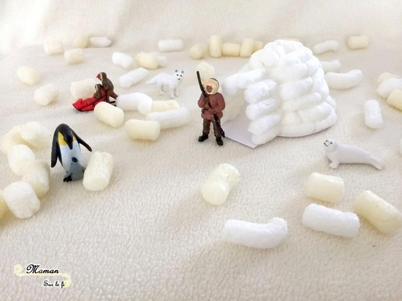Décoration anniversaire enfants thème banquise et pingouins - boule de neige ballons - igloo en playmais - Neige - mslf