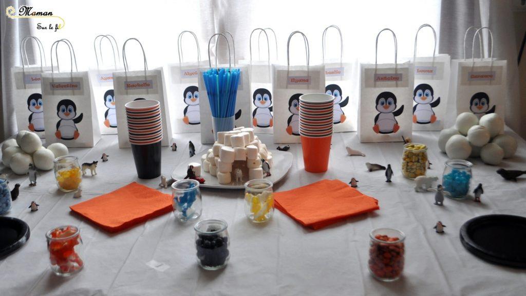 Activités et décoration anniversaire enfants thème banquise et pingouins - boules de neige à lancer dans pingouin géant - igloo en playmais - Neige - mslf