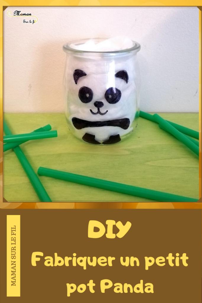 DIY - Pot Panda - Décoration Fait Maison - Chine Asie - Bricolage au feutre sharpie - DIY Simple et rapide - mslf