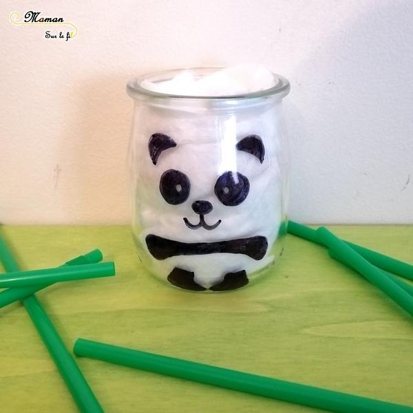 Customiser Un Pot En Panda Activite Maman Sur Le Fil