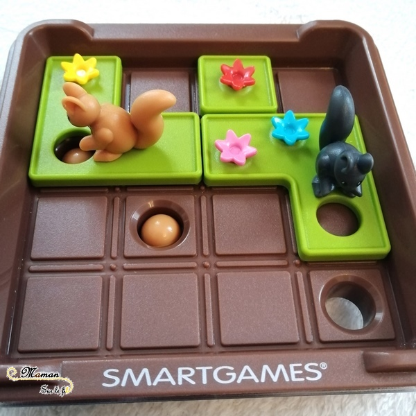Test et avis Cache Noisettes de Smart Games - Jeu de logique enfants - Casse-tête à défis - Ecureuils provisions - Anticipation et résolution de problème - planification - mslf