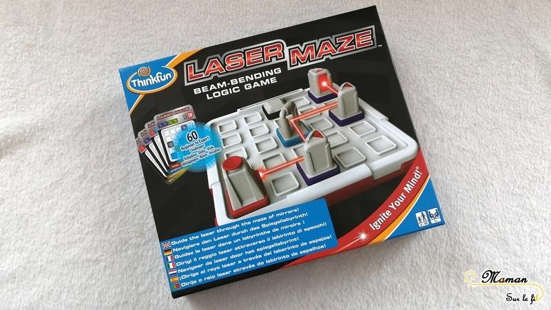 Test et avis - Laser Maze de ThinkFun - casse-tête - jeu de logique - diriger un laser - lumière et diffraction - expériences sciences - défis - mslf