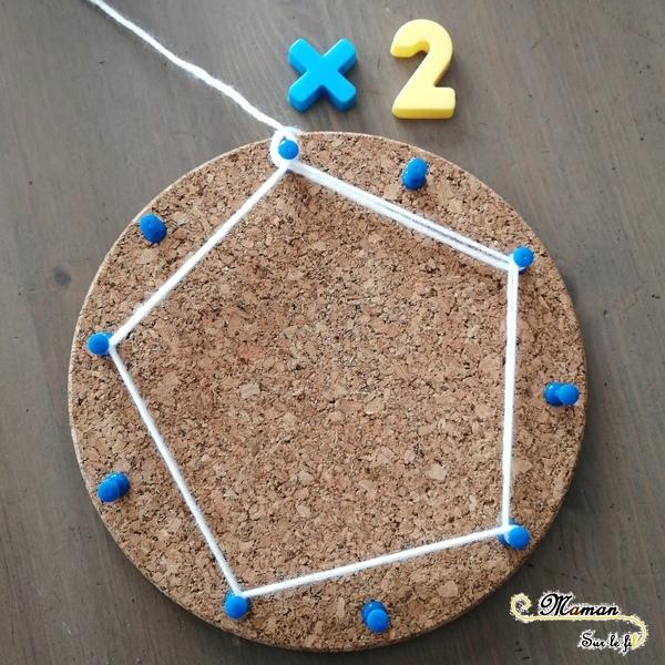 apprendre - réviser ses tables de multiplicayion en s'amusant - ludique - pédagogie waldorf - activité éducative mathématiques - Fabriquer des étoiles avec laine et liège - créatif - mslf