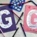 Abécédaire créatif - G comme gribouillage et géométrie - activité manuelle enfants - formes géométriques au pochoir - dessin - apprentissage lettres alphabet - maternelle - mslf