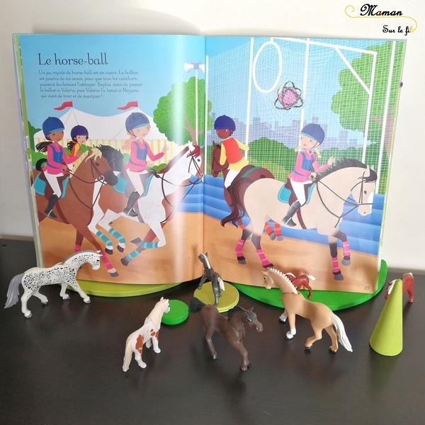 Test avis - J'habille mes amies aux éditions usborne - Le concours hippique et Au poney-club - cahiers activités - autocollants autour des chevaux - 650 gommettes réutilisables - mslf