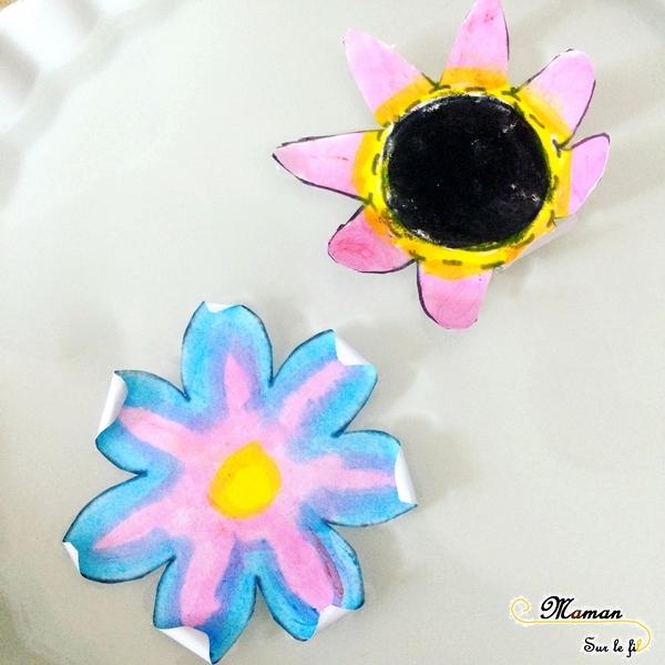 Activité enfants - Faire éclore un champs de fleurs - éclosion - papier - expérience - observation - printemps - rv sur le fil - mslf