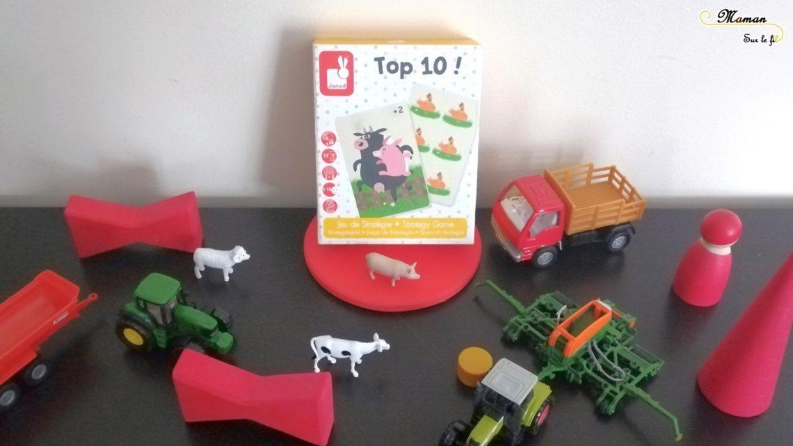 Avis Test - Jeu de société enfants - top 10 ! de janod - cartes - 5 ans et plus - stratégie, calculs, mathématiques, compléments à 10 - maternelle cp - mslf