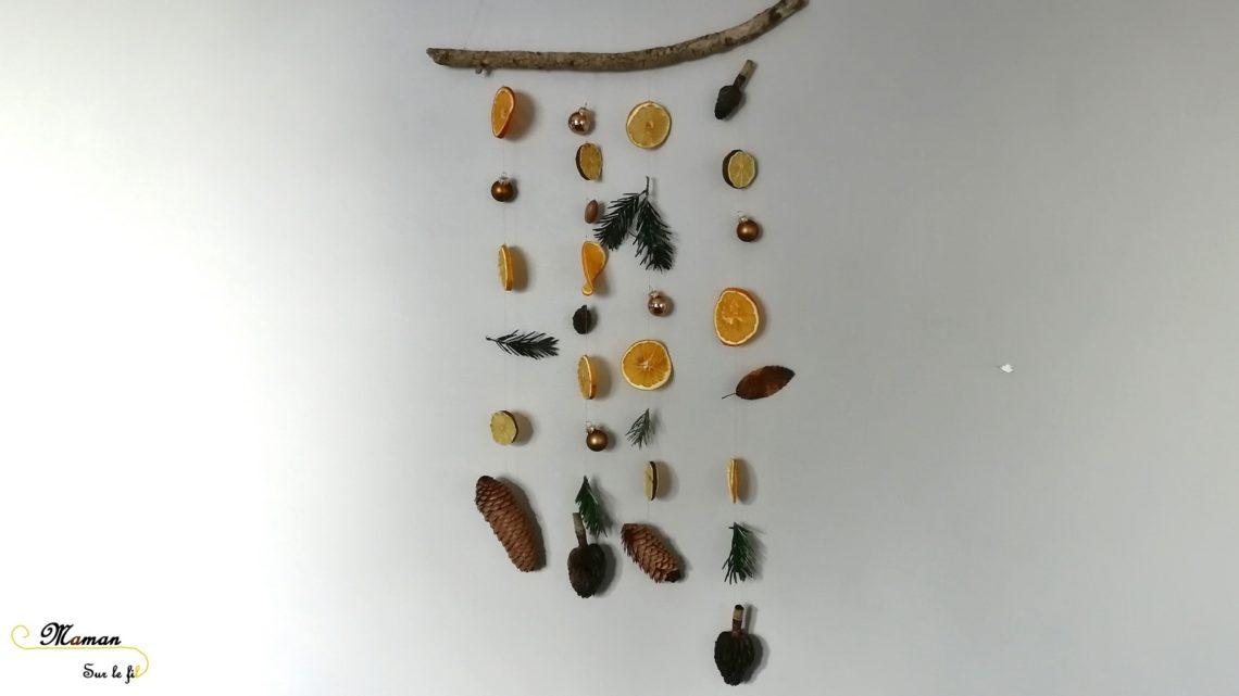 activité enfants - pommes d'ambre - oranges et clous de girofle - suspension DIY Nature - Noël et Hiver - Tranches oranges et citrons séchées - mslf