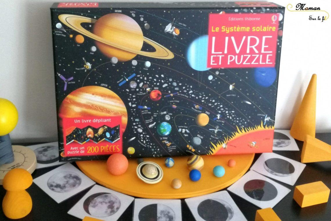 Livre et Puzzle - Le Système Solaire de Usborne - 200 pièces - livre dépliant géant - planètes - test et avis - mslf