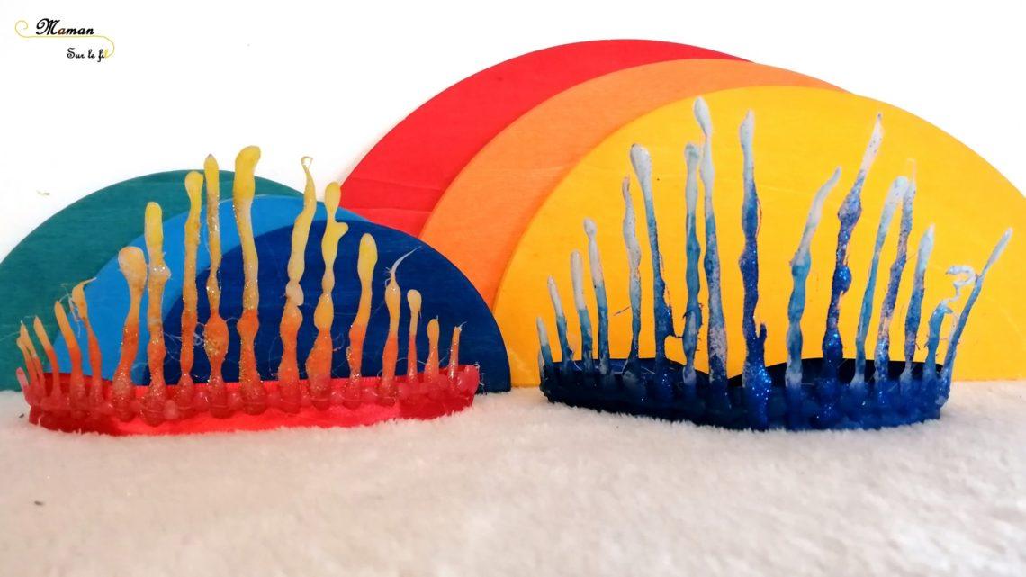 Activité enfants - créer sa couronne son diadème fait maison - couronne épiphanie feu et glace - Galette et rois - Reine des neiges - mslf