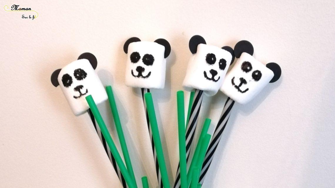 Gouter rigolo - Guimauves Panda - Cuisine Enfants - DIY - Décoration Anniversaire Fait Maison - Chine Asie - DIY Simple et rapide - mslf