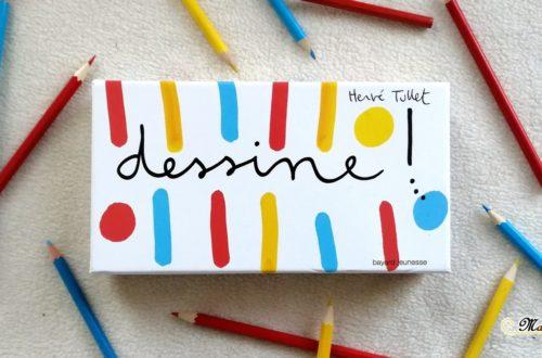 Test et avis du jeu Dessine ! de Hervé Tullet chez bayard jeunesse - jeu enfants de création et de dessin - avec pochoirs consignes et cartes - mslf