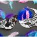 Activité enfants - fabriquer des masques graphiques noirs et blancs - graphisme et plumes - carnaval - Mardi - Gras - diy - fait maison - mslf