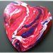 Activité enfants - Test de la technique de pouring - mélange de peinture - tableau coeur à offrir - saint-valentin - amour et amitié - fête grand-mère - diy - mslf