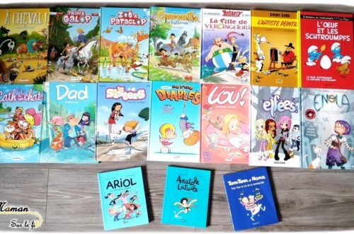 Test et avis livre bande-dessinée enfants - BD préférées fille 9 ans - classiques - chevaux équitation - vie quotidienne - littérature enfant - mslf