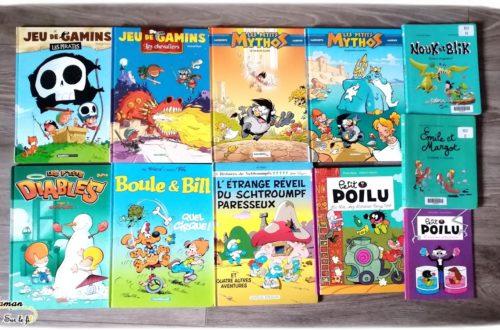Test et avis livre bande-dessinée enfants - BD préférées garçon 6 ans - classiques - première lecture - mythologie - pirates - vie quotidienne - littérature enfant - mslf