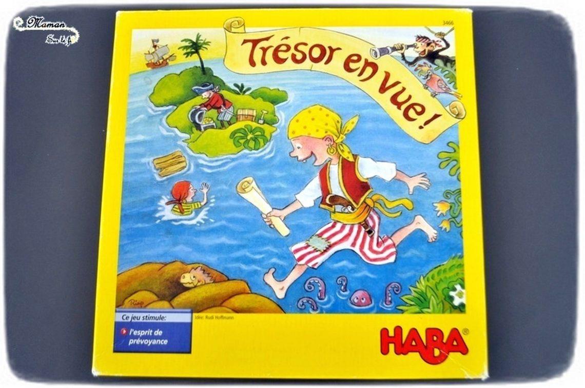 Jeu de société enfants - maternelle - primaire - trésor en vue de Haba - Pirates, trésor, île - stratégie et anticipation - Test et avis - mslf