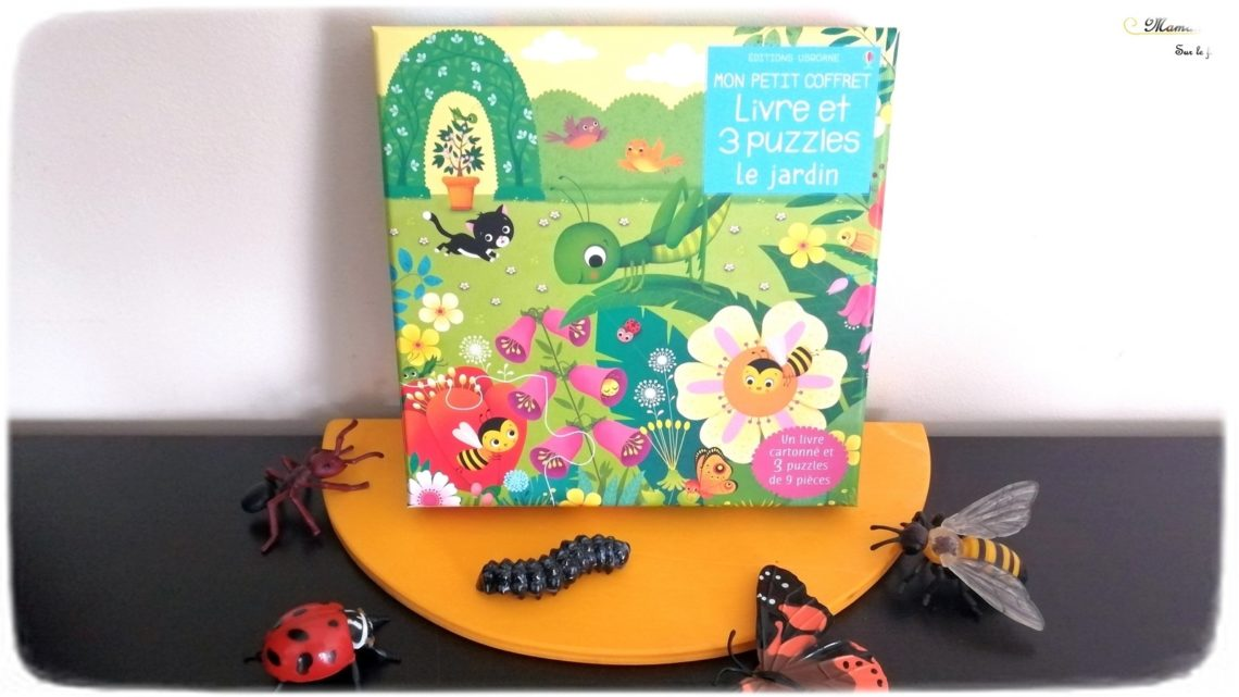 Livre et Puzzles - Le Jardin de Usborne - 3 puzzles de 9 pièces - livre cartonné premier âge insectes et jardin - test et avis - mslf