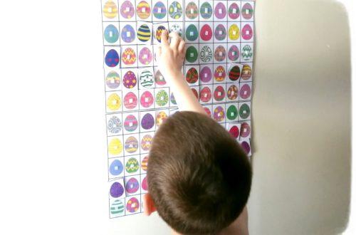 Activité enfants - jeu de pâques diy fait maison - Chasse aux 100 oeufs géante - printable gratuit - à imprimer gratuitement - jeu évolutif - mslf