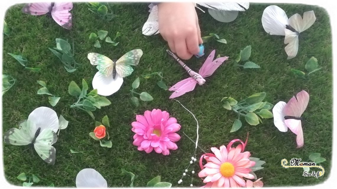 Invitation à créer et jouer printanière - printemps fleurs et insectes - fausse pelouse - jardin - mandala - activité enfants - mslf