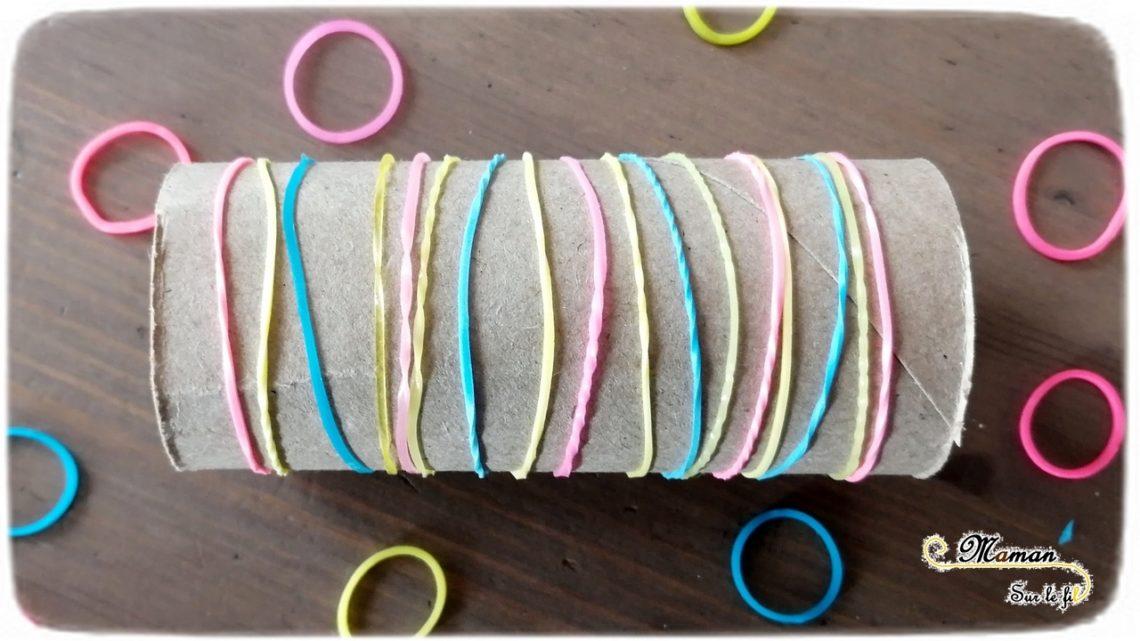 Activité enfants - Motricité fine et logique avec des élastiques Loom - Récup' - Enfiler des élastiques et algorithme - les emmeler et les démêler - Patience et persévérance - Couleurs - mslfActivité enfants - Motricité fine et logique avec des élastiques Loom - Récup' - Enfiler des élastiques et algorithme - les emmeler et les démêler - Patience et persévérance - Couleurs - mslf