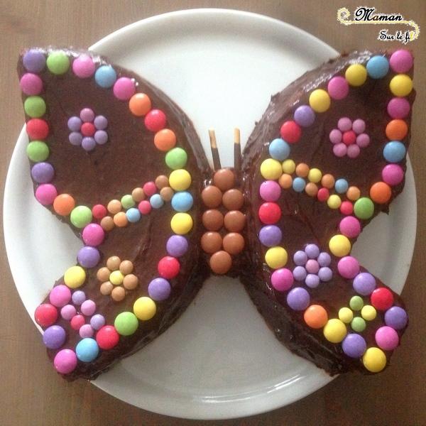 Gâteaux Papillon pour le printemps - idée anniversaire enfants - insectes - ssmarties - chocolat - cake design - mslf