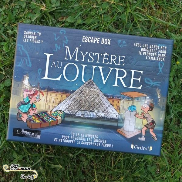 Sélection escape game box et jeux de rôle enfants - Bioviva Grund et 404 Editions - Junior - Louvre - Minecraft - Jeu de société - mslf