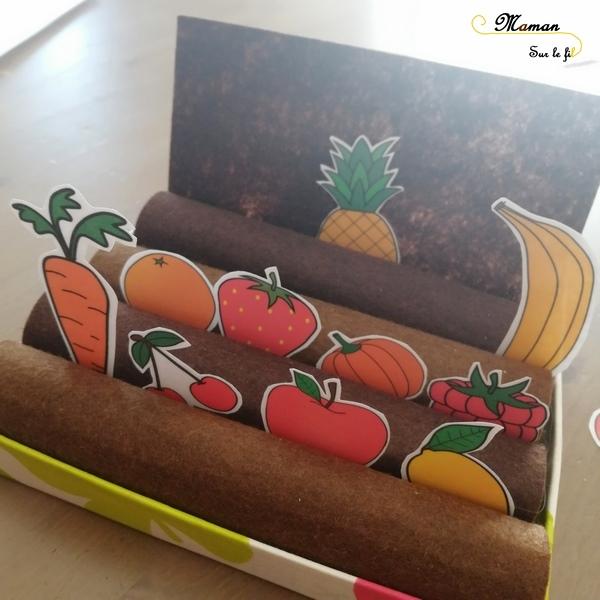 Qui est-ce Fruits et Légumes version potager à manipuler - Jeu DIY - à imprimer à télécharger - Logique - Rv sur le fil -mslf
