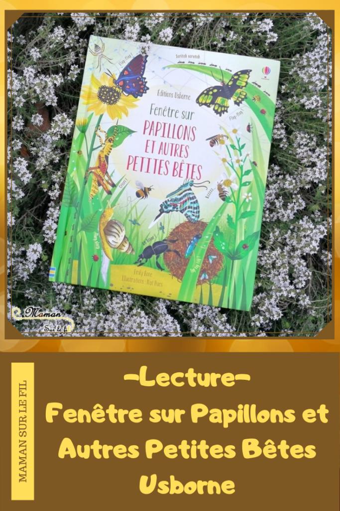 Test et avis livre enfants - Fenêtre sur papillons et petites bêtes Usborne - Livre à rabats - fenêtres - printemps et insectes - littérature enfant - mslf
