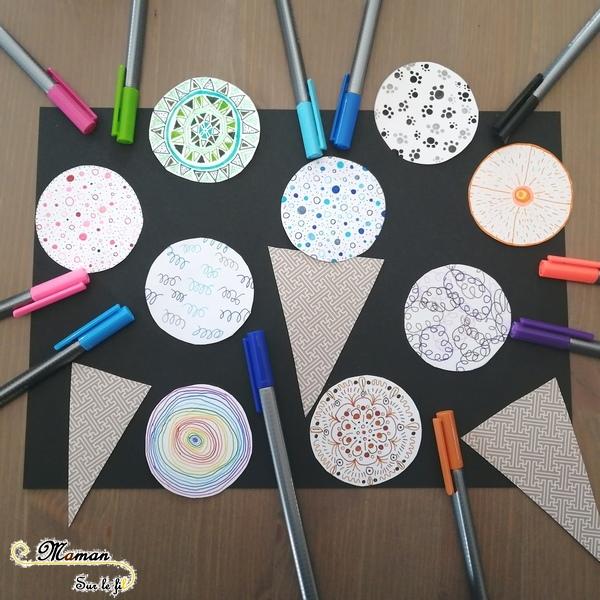 Activité Enfants - Glaces graphiques - Dessin Graphisme Cornet - Art visuel Maternelle - Activité créative été - mslf