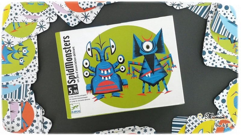 Jeu de société enfants et adultes - SpidMonsters de Djeco - Jeu d'observation et de rapidité sur les monstres - rigolo - 5 ans et plus - Test et avis - mslf