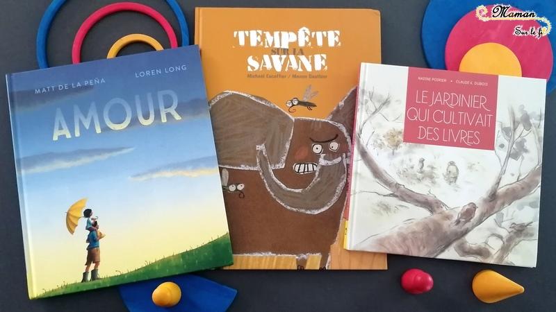 Livres Enfants - Maison éditions D'Eux arrive en France - Tempête sur la Savane - Humour - Amour - Le jardinier qui cultivait des livres - solitude et différences - relations - test et avis - mslf