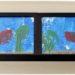 Activité Enfants été et premier avril - Peindre un aquarium avec les pieds - Papier Bulles et empreintes Poisson et algue - Art visuel Maternelle - Activité créative - mslf