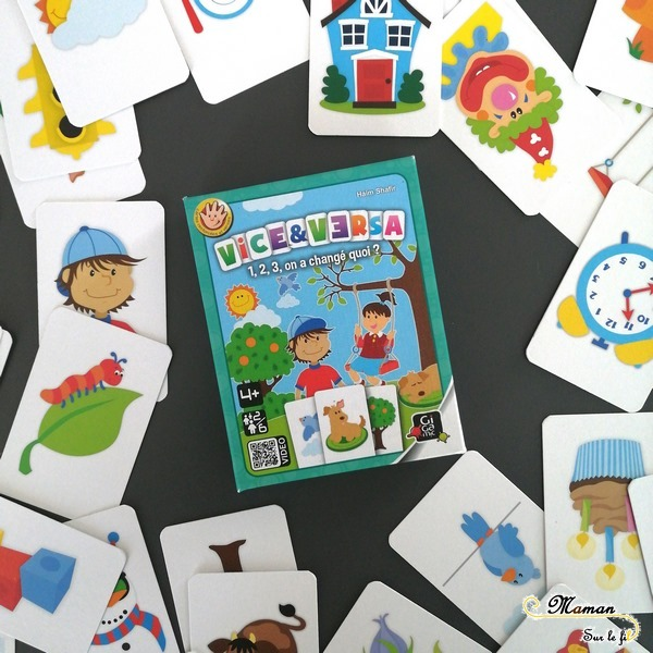 Jeu de société enfants - Vice & Versa de Gigamic - Jeu d'observation et de mémoire - discrimination visuelle - 4 ans et plus - Test et avis - mslf