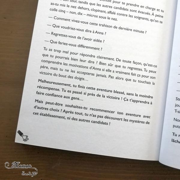 Lecture adolescents et adultes - Death Escape - 404 éditions - Livre à choix - Horreur, escape game, énigmes, télé-réalité - Test et avis - Livres ados - mslf