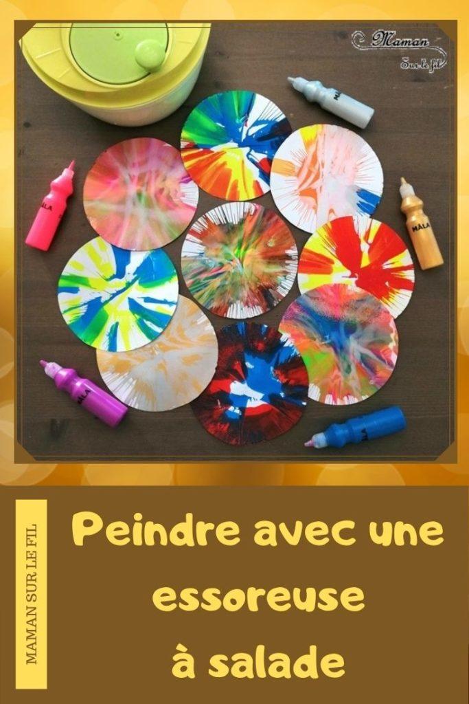 Activité créative enfants - technique de peinture rigolote - Peinture à l'essoreuse à salade - Arts visuels - peinture et mélange de couleurs - maternelle - mslf