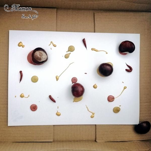 Activité créative enfants - technique de peinture rigolote - Feuilles d'automne Peinture aux marrons - Coton-tige et pointillisme - Arts visuels automne et maternelle - mslf