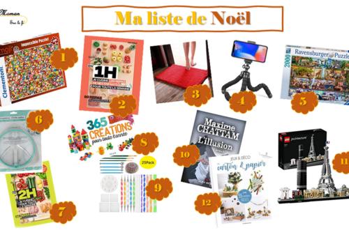 I Wishlist you a merry chrismas - liste de noël - Wish List Femme adulte - esprit enfantin - grand enfant - idées cadeaux - envies - Lego, puzzles, livres, créatif - 2020 - mslf