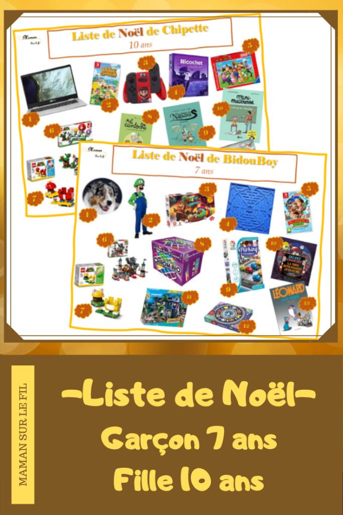 I Wishlist you a merry chrismas - liste de noël - Wish List Enfants - fille 10 ans garçon 7 ans - idées cadeaux - envies - Jeux de société, jeux vidéos, puzzles, livres, puzzles - 2020 - mslf