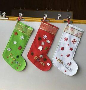 Récap idées activités enfants thème Noël - Jouons les lutins du père noël - cuisine, préparatifs, décorations, suspensions sapins, arts visuels, sapins, récup - RV Sur le fil - mslf