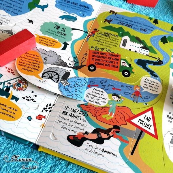 Test et avis livre enfants - Découvrons ensemble Protéger notre planète - éditions Usborne - Livre à rabats - fenêtres - littérature enfant - Eau, air, ressources, pollution, réchauffement climatique, biodiversité, respect de l'environnement, écologie - mslf