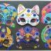 Activité enfants - Kit créatif - Pochette de 6 masque brillants de Gründ - Masques autour du monde à décorer avec des strass et des autocollants pailletés - Mexique, Russie, Japon, Egypte - Carnaval et Mardi-Gras - mslf