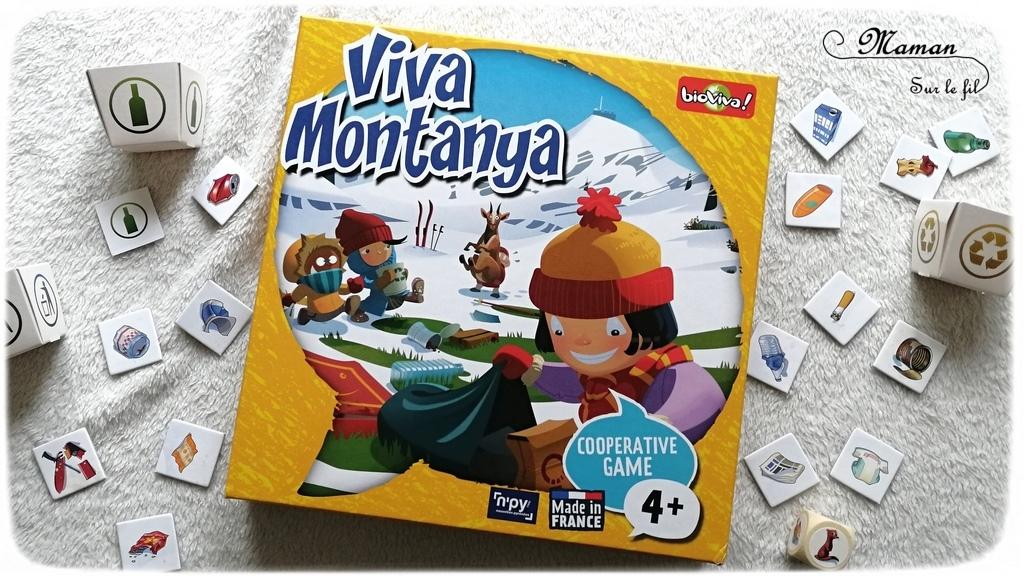 Avis sur le jeu Viva Montanya de Bioviva - Jeu coopératif de mémorisation autour des animaux de la montagne, du tri des déchets, de la préservation de la nature, de la faune et de la montagne - Tri des déchets - Jeu à partir de 4 ans - Test jeu de société enfants - maternelle et élémentaire - Ecologie - mslf