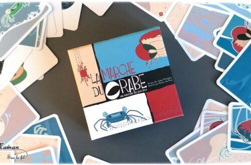Avis sur le jeu La marche du crabe de Jeux Opla - Jeu coopératif de déduction pour deux joueurs - autour du respect de la nature, des déchets, de la plage, des crabes, du respect de la nature et de la planète -0 des déchets, de la préservation de la nature - Humour - Jeu à partir de 8 ans - Test jeu de société enfants - élémentaire - Ecologie - mslf