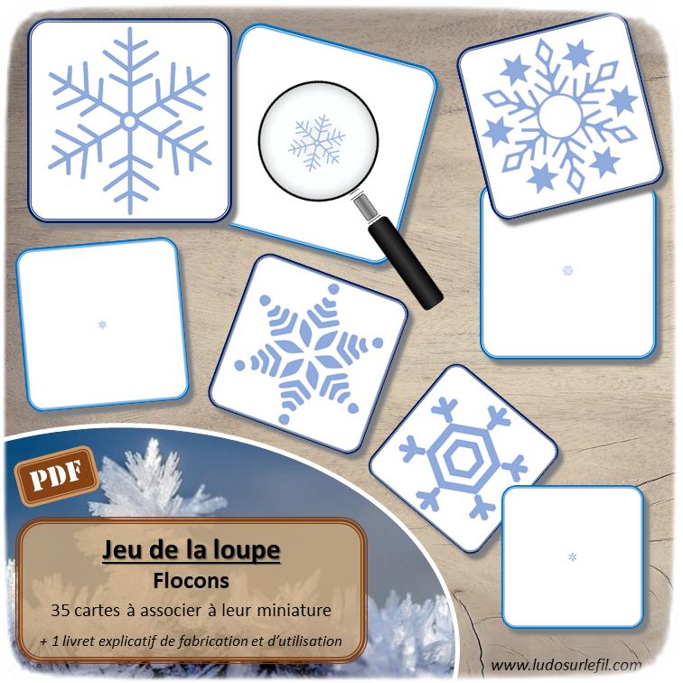 Nouveautés de janvier - Boutique en ligne Ludo sur le fil - fichiers jeux pdf à imprimer - Hiver, animaux du froid, bonhomme de neige, flocons, corps humain et 5 sens - tri, loto, lecture, jeu du zoom, classement, mise en paire, ombres, loupe - mslf