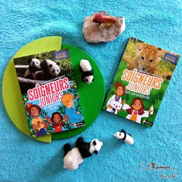 Test et avis livre enfants - Romans - Soigneurs Juniors - Nathan - Ecrits en collaboration avec le Zooparc de beauval - Animaux, parc animalier, zoo - Sorties enfants - Pandas, Lions - Documentaires - littérature enfant - Test et avis - mslf